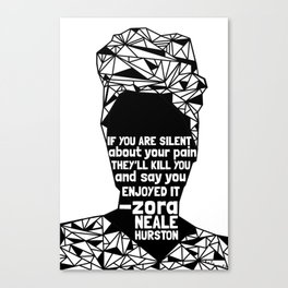 ZNH - If You Are Silent - Black Lives Matter - Series - Black Voices Canvas Print