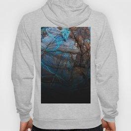 Deep Blue Marble - Ombre black Hoody