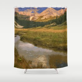 Glacier National Park in Autumn Shower Curtain