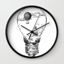 Aquarium Bulb Lighthouse Wall Clock