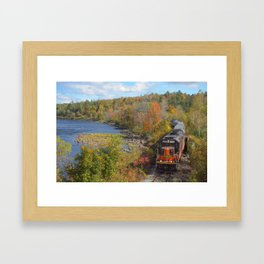 Adirondack Mountain Scenery Framed Art Print