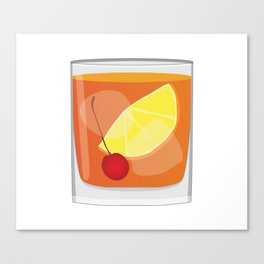 Old Fashioned Cocktail Canvas Print