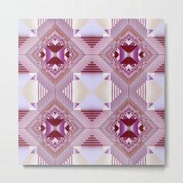 Modern geometric pattern design Metal Print