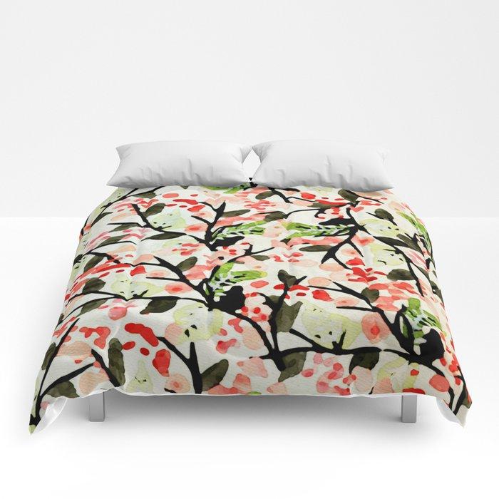 Watercolor Nature Pattern #society6 #decor #buyart Comforters