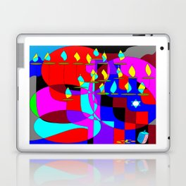 Community Chanukah Menorah Lights Laptop & iPad Skin
