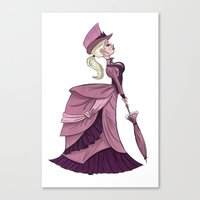 victorian Canvas Prints featuring Victorian by Kenimation
