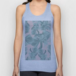 Monstera Leaves Pattern #2 #tropical #decor #art #society6 Unisex Tank Top