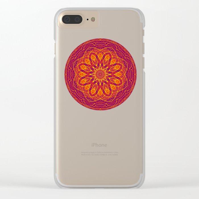 Kaleidoscope Sphere Clear iPhone Case