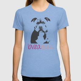 Loveabull, Pitbull Artwork, Digital Print T-shirt