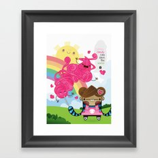 Cotton Candy can save the world!!! Framed Art Print