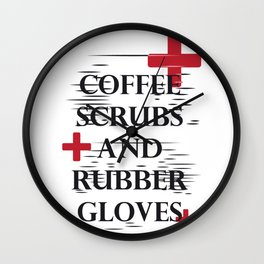 Coffee Gloves Nurse Life Funny Gifts Wall Clock