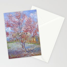 Pink Peach Tree in Blossom by Vincent van Gogh Stationery Cards