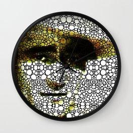 The Duke - A Tribute to John Wayne - Stone Rock'd Art By Sharon Cummings Wall Clock