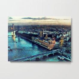 London watercolor Metal Print