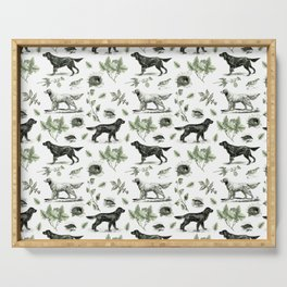 BIRD DOGS & GREEN LEAVES Serving Tray