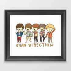 Juan Direction One Direction Cartoon Framed Art Print