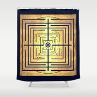 labyrinth Shower Curtains featuring Knowledge Labyrinth by DebS Digs Photo Art