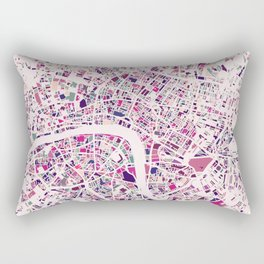 London Mosaic Map #5 Rectangular Pillow