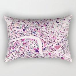 London Mosaic Map #5 Rectangular Pillow