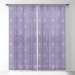 Ultra violet polka dot pattern Sheer Curtain