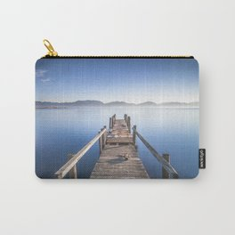 Wooden pier or jetty and lake at sunrise. Torre del Lago Puccini. Tuscany, Italy Carry-All Pouch