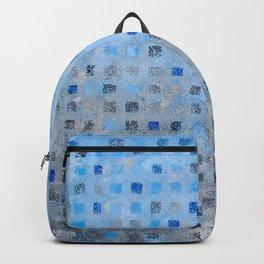Blue Squares Backpack