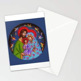 modern folk icon - Holy Family 2 Stationery Cards