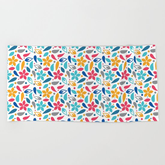 Colorful Lovely Pattern X Beach Towel
