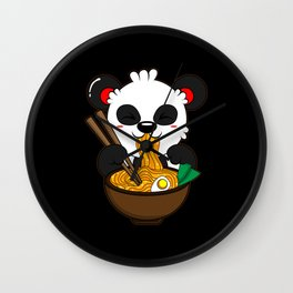 Ramen Noodles Kitsune Fox Kawaii Anime Neko Japan Wall Clock
