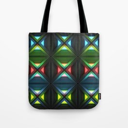 Modern background with light effects of geometric ornament. Tote Bag