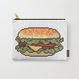 Burger pixel art on white background. Carry-All Pouch