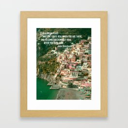 Travel Bites Deep Framed Art Print