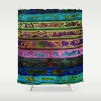 coachella Shower Curtains featuring Coachella by RingWaveArt