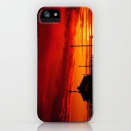 A Huntington Beach Pier Sunset iPhone Case