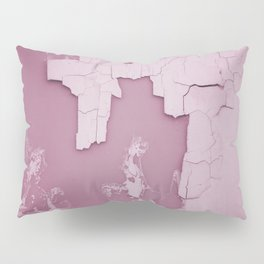 Damaged wall pic in background with pink color, ready for clothes,furnitures, iphone cases Pillow Sham