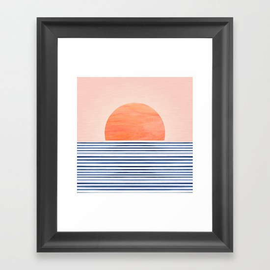 Summer Sunrise - Minimal Abstract by kristiangallagher
