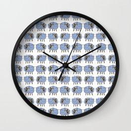 Mouton bleu Wall Clock