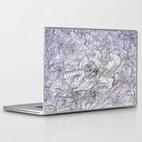 tree rings Laptop & iPad Skins featuring Abstract Tree Rings by nikart
