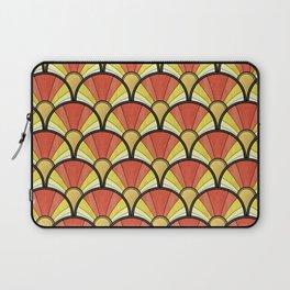 Radiant Sunshine Art Deco Pattern Laptop Sleeve