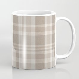 Checkered, Plaid Prints, Warm Brown Coffee Mug