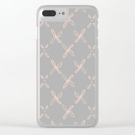 Pink & Gray Abstract Astral Pattern Clear iPhone Case