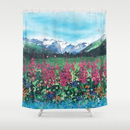 Fire in the Valley Shower Curtain