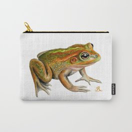 Australian Growling Grass Frog - Original artwork by Ronelle Designs Carry-All Pouch