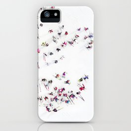 Aerial view of skiers iPhone Case