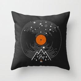 re/cordless Throw Pillow