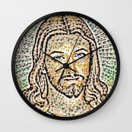 Jesus Artistic Illustration Colored Slits Style Wall Clock