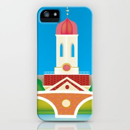 Cambridge, Massachusetts - Skyline Illustration by Loose Petals iPhone Case
