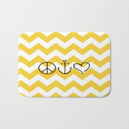 Peace Hope Love Chevron Bath Mat