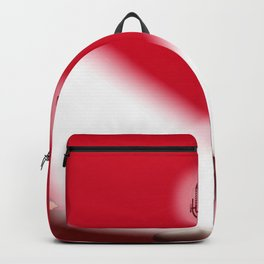 Open Mic Night Red Background Backpack