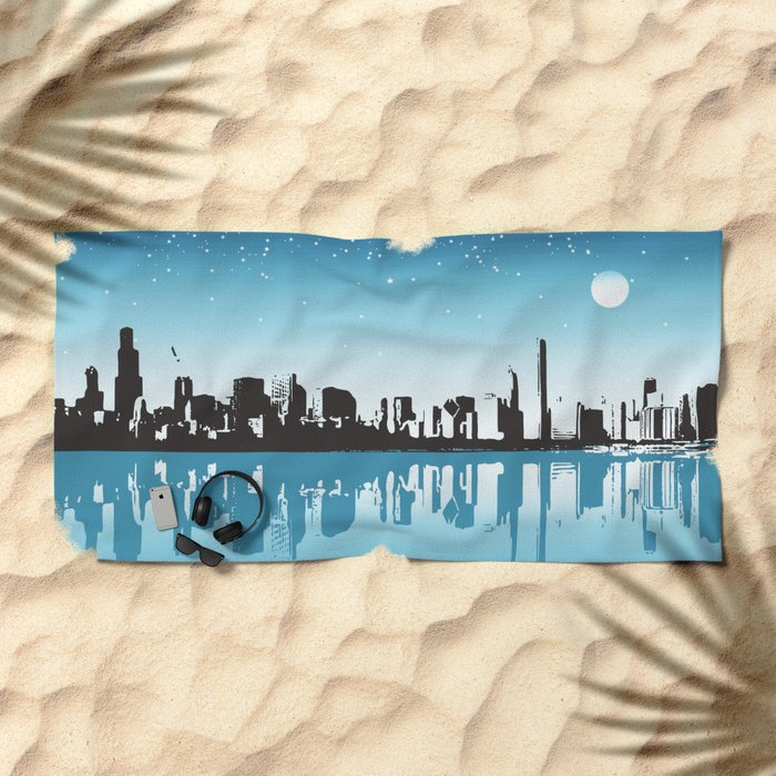 Cityscape Beach Towel